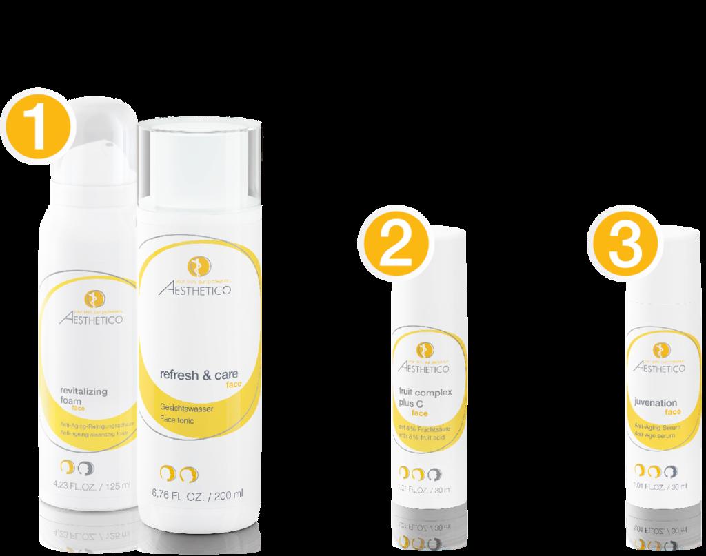 Produktpaket für Treatment 1: Reife Haut aktivieren