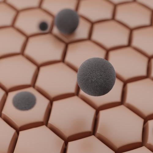 Grafik: Schmutzpartikel auf Zellen